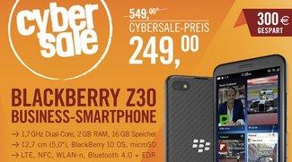 Nur heute günstiger und zum Bestpreis: iPhone-Alternative Blackberry Z30 und weitere Blitzangebote