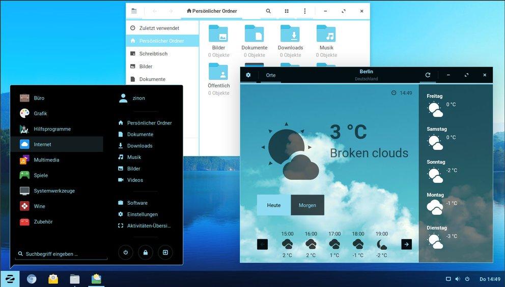 Zorin OS erinnert stark an Windows 7
