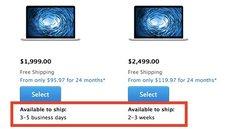 15-Zoll-MacBook Pro: Lagerbestände lassen nach