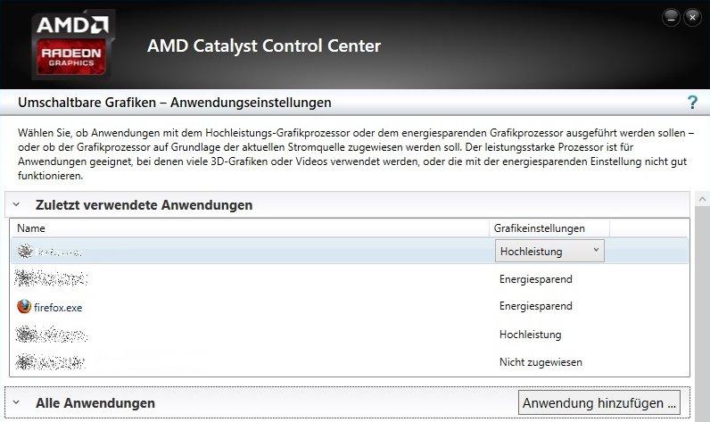 AMD Umschaltbare Grafik