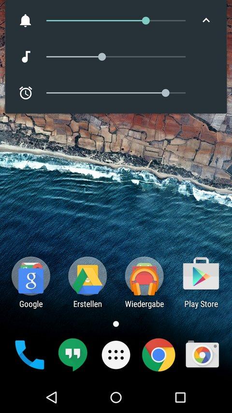 Android-M-Neuerungen-Lautstaerke-Homescreen-2