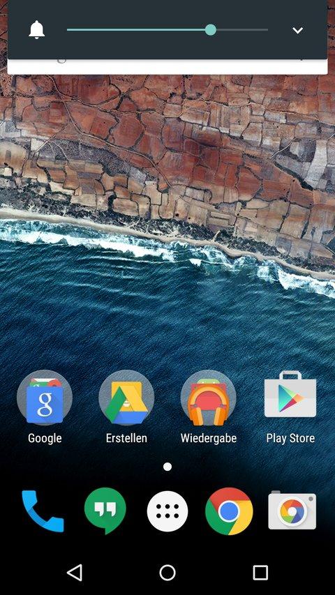 Android-M-Neuerungen-Lautstaerke-Homescreen