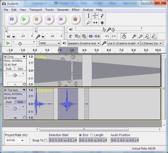 Audacity bietet fortgeschrittenen Nutzern vielfältige Möglichkeiten der MP3-Bearbeitung.