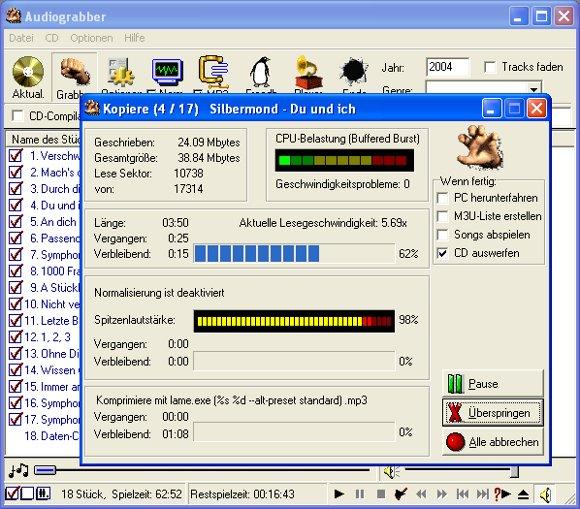 Audiograbber: Schon lange nicht mehr aktualisiert, aber immer noch kompatibel und funktionsfähig.
