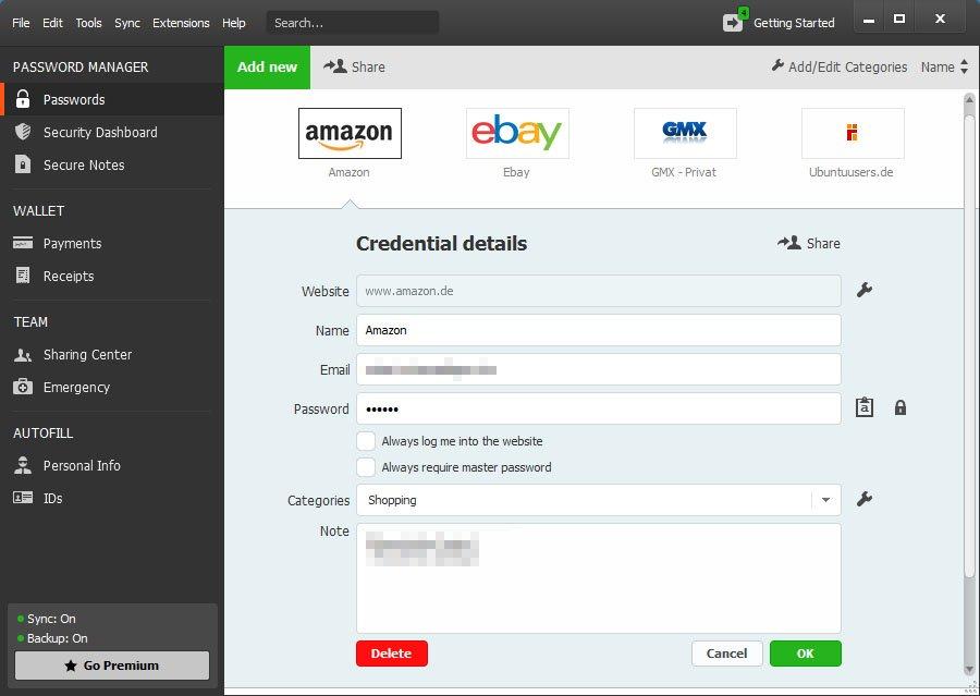 Dashlane: Der Passwort Safe verwaltet eure Zugangsdaten und loggt euch automatisch in die jeweiligen Webseiten ein
