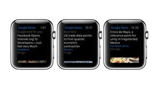 Google News & Wetter: Google zeigt erste App für Apple Watch