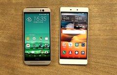 HTC One M9 und Huawei P8 im...