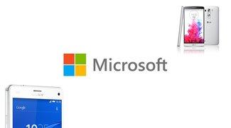 Microsoft: Kooperation mit Sony, LG und 18 weiteren Android-Herstellern angekündigt