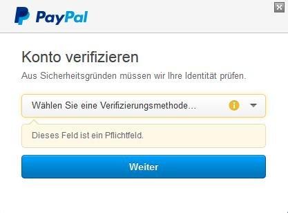 paypal sicherheitsfrage
