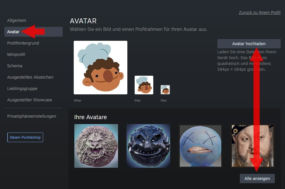 Steam-Avatar anpassen PC 02