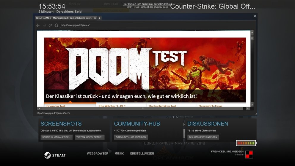 Steam Overlay Guides Webbrowser