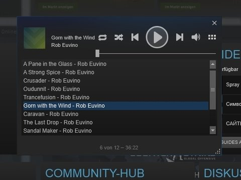 Steam Overlay Steam Music