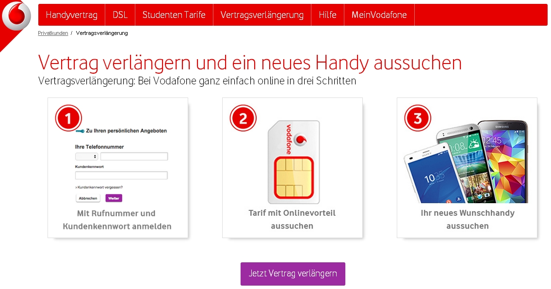 Vodafone Vertragsverlängerung So Gehts Giga