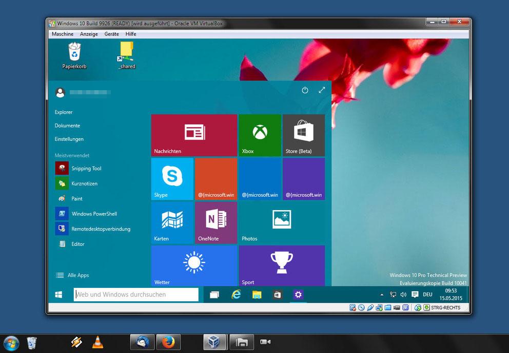 Windows 10 Installieren Virtualbox