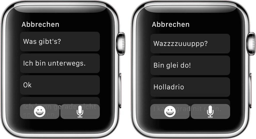 Apple Watch Smart Replies