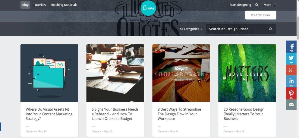 In der Canva Design School kann man in Tutorials zu verschiedenen Themen stöbern.
