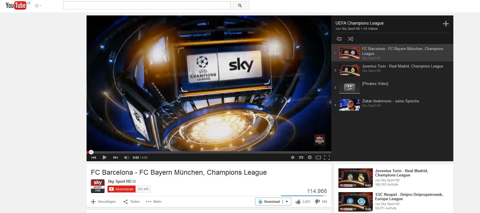 Champions League Highlights Sky