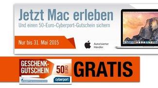 Beigabe zum Mac-Kauf: Cyberport beschenkt Kunden mit 50-Euro-Einkaufsgutschein
