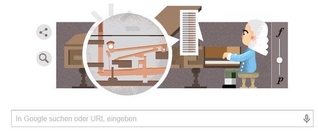 Erfinder des Pianos Bartolomeo Cristofori: Ein Google Doodle ehrt ihn zum Geburtstag