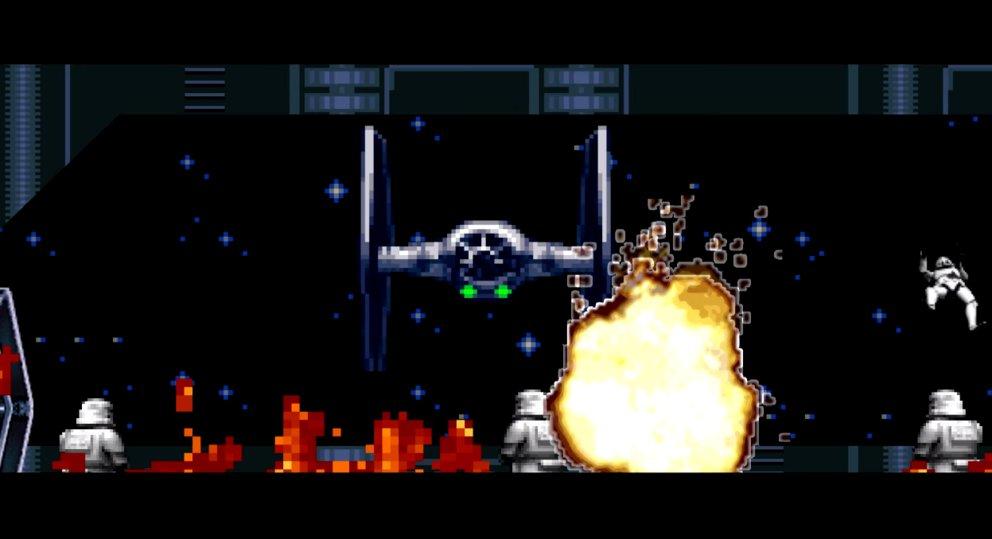 Krieg der Pixel: Star Wars The Force Awakens im 16-Bit-Look