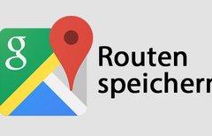 Google Maps Route speichern...