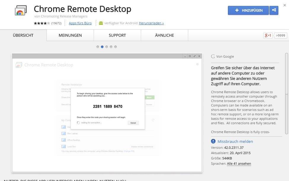 google-remot-desktop-addon