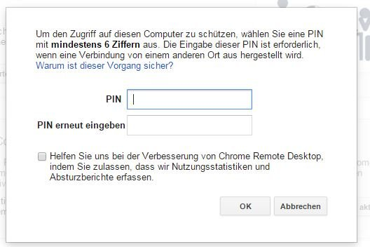 google-remot-desktop-pin