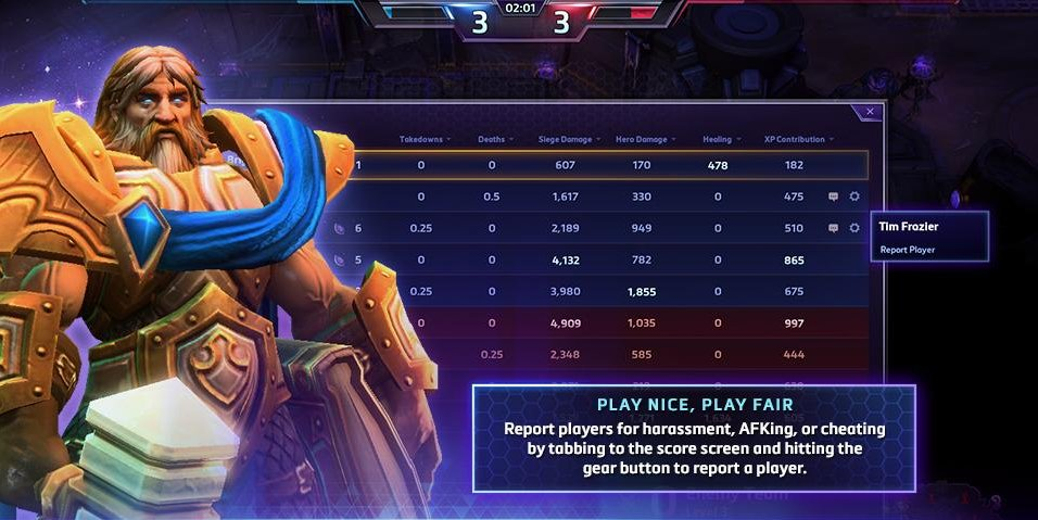 HotS Reporting