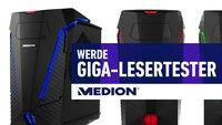 Neuer Gaming-PC von MEDION: Werde einer von 3 GIGA-Lesertestern!