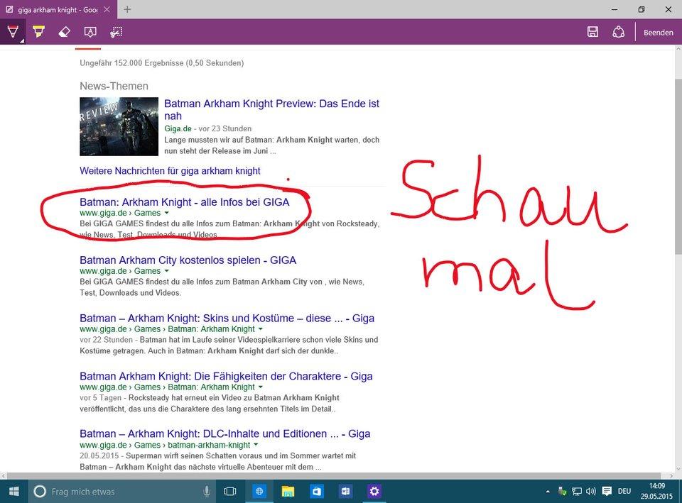 Mit Microsoft Edge macht ihr unter anderem Notizen und Markierungen auf Webseiten.