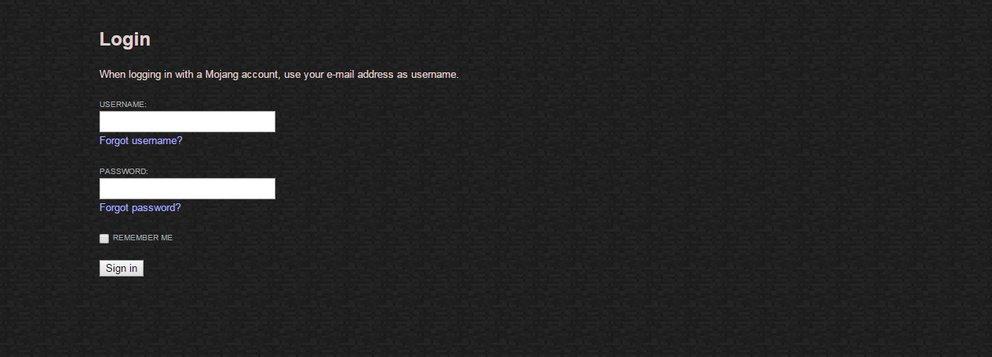 minecraft email und passwort vergessen