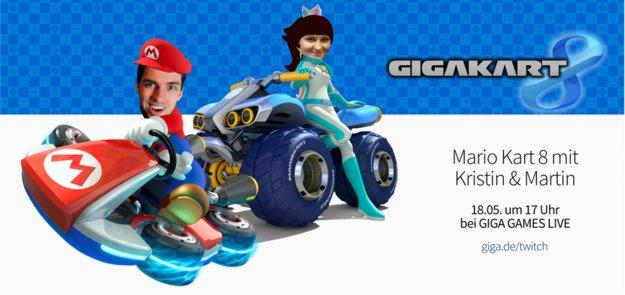 Mario Kart 8: Heute bei GIGA GAMES LIVE und ihr könnt mit fahren!