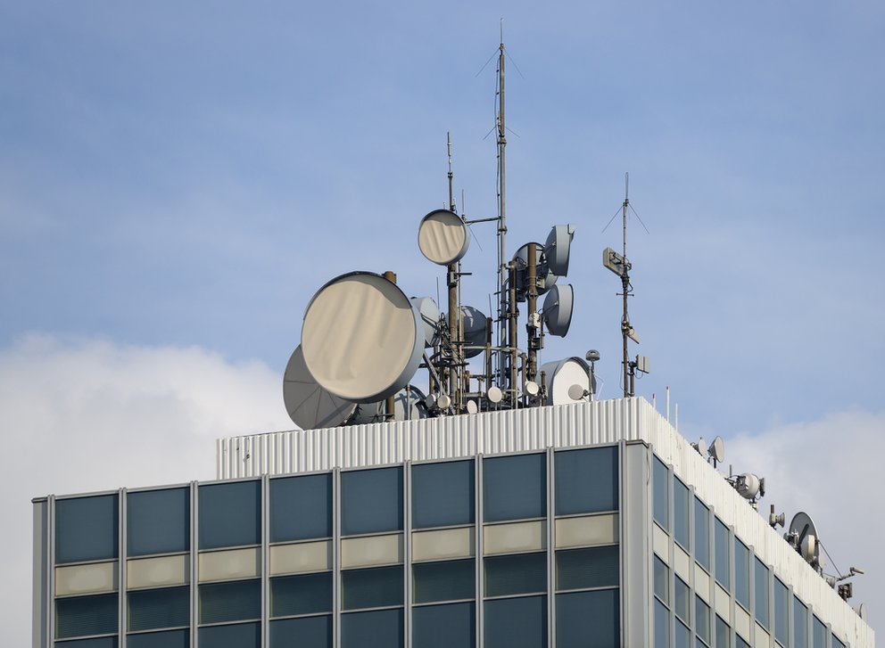Close to some cellular mobile telephony antennas in Germany | shutterstock