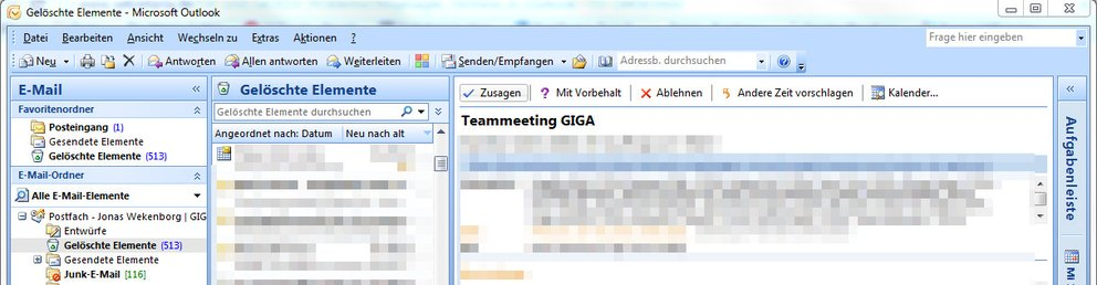 outlook termine wiederherstellen