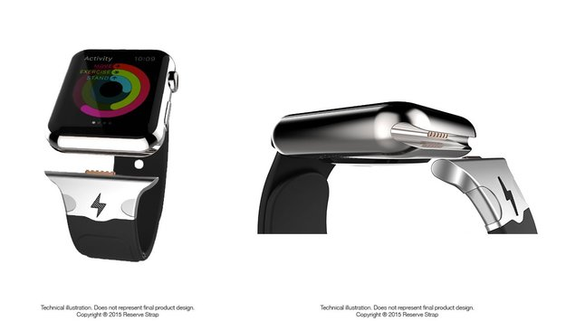 Apple Watch: Zusatzakku-Armband nutzt Diagnose-Anschluss