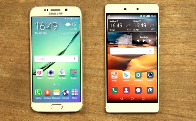 Samsung Galaxy S6 edge und Huawei P8 im Videovergleich