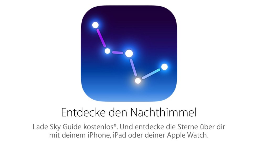 Preisgekrönte App Sky Guide heute kostenlos in der Apple Store App