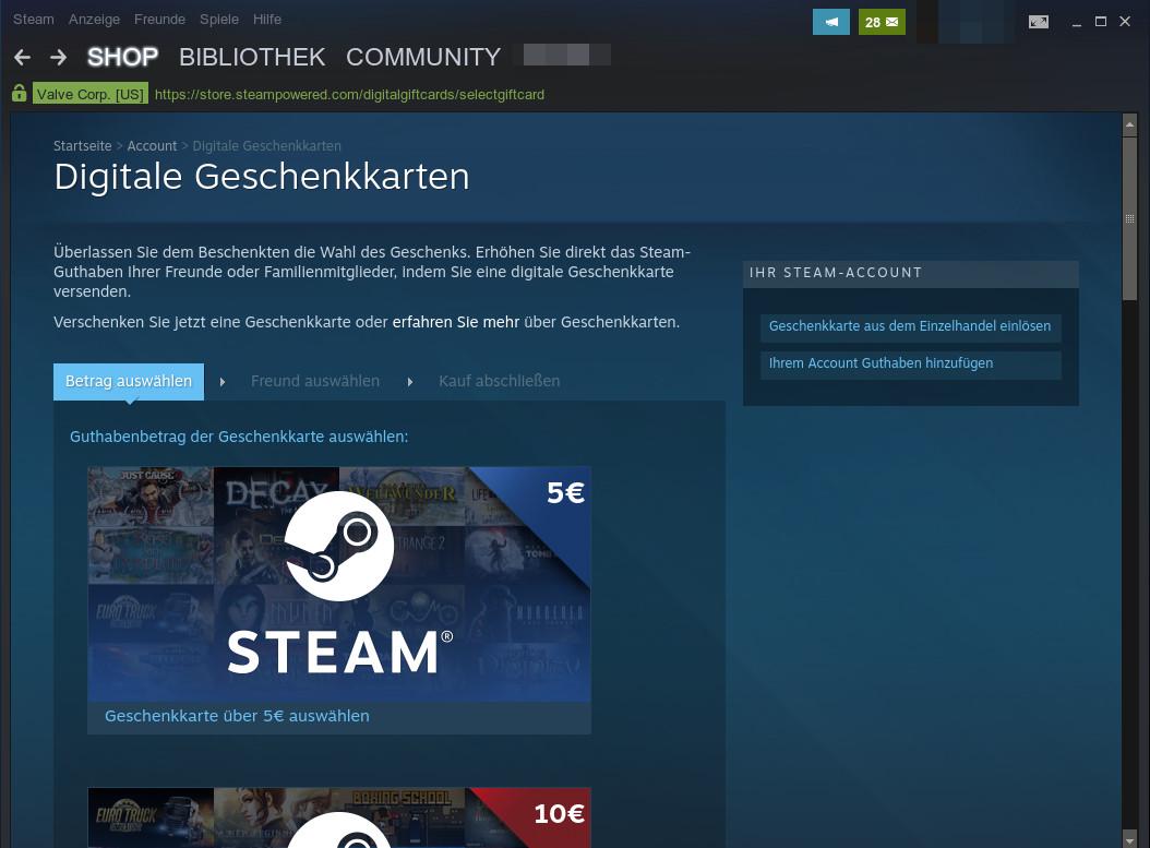 Steam Guthaben Schenken