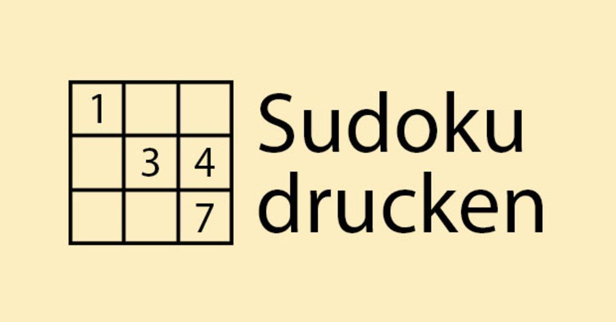 Sudoku drucken – Die besten Webseiten für das japanische ...
