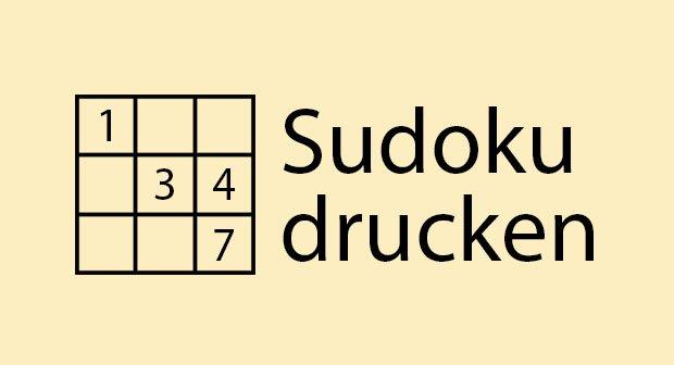 Sudoku drucken – Die besten Webseiten für das japanische Zahlenpuzzle