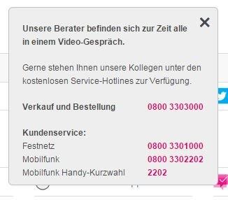 Der Videochat der Telekom ist gerne mal ausgelastet.