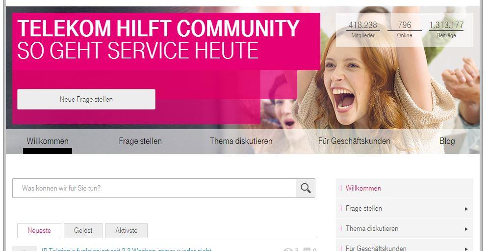 Facebook Telekom Hilft