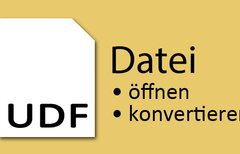 UDF-Datei öffnen – So...