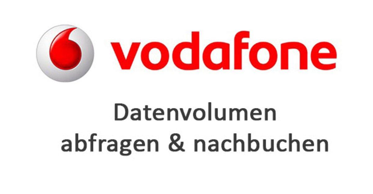 vodafone center datenvolumen nachbuchen