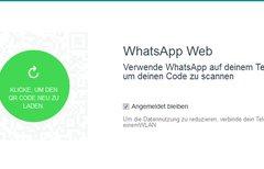 WhatsApp Web: QR Code scannen...
