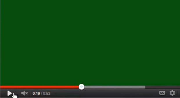 Grüner Bildschirm bei Youtube beheben