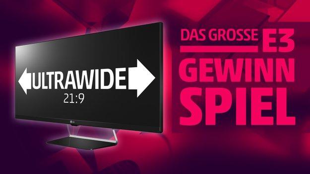 Das große E3-Gewinnspiel: Gewinn moderne UltraWide-Monitore von LG zum Zocken!