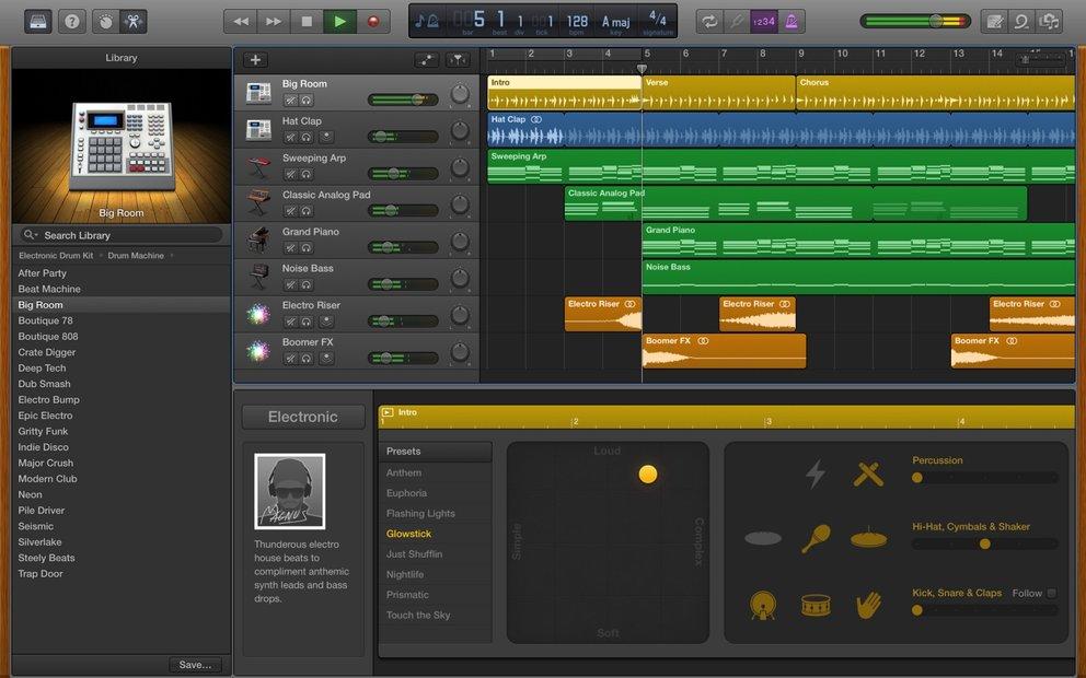 GarageBand 10.1 auf dem Mac