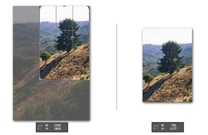 Photoshop - Bild-zuschneiden