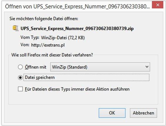 UPS Trojaner